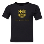 Barcelona Mes Que Un Club Toddler T-Shirt (Black)