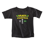 Brazil FIFA Confederations Cup 2013 Champions Toddler T-Shirt (Black)