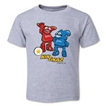 2002 FIFA World Cup Kaz & Nik Mascot Toddler T-Shirt (Gray)