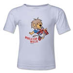 1966 FIFA World Cup Willie Mascot Logo Toddler T-Shirt (White)