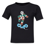 1990 FIFA World Cup Ciao Mascot Logo Toddler T-Shirt (Black)