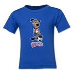 1994 FIFA World Cup Striker Mascot Logo Toddler T-Shirt (Royal)