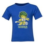 2010 FIFA World Cup Zakumi Mascot Logo Toddler T-Shirt (Royal)