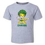 2010 FIFA World Cup Zakumi Mascot Logo Toddler T-Shirt (Grey)