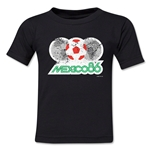1986 FIFA World Cup Emblem Toddler T-Shirt (Black)