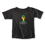 2014 FIFA World Cup Brazil(TM) Emblem Toddler T-Shirt (Black)