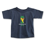 2014 FIFA World Cup Brazil(TM) Emblem Toddler T-Shirt (Navy)