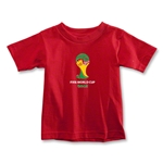 2014 FIFA World Cup Brazil(TM) Emblem Toddler T-Shirt (Red)