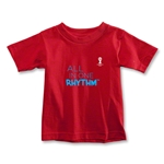 2014 FIFA World Cup Brazil(TM) Toddler All In One Rhythm T-Shirt (Red)