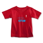 2014 FIFA World Cup Brazil(TM) Toddler Portugese All In One Rhythm T-Shirt (Red)
