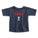 2014 FIFA World Cup Brazil(TM) Japan Core Toddler T-Shirt (Navy)