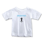 Argentina 2014 FIFA World Cup Brazil(TM) Toddler Core T-Shirt (White)