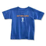 Netherlands 2014 FIFA World Cup Brazil(TM) Toddler Core T-Shirt (Royal)