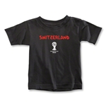 Switzerland 2014 FIFA World Cup Brazil(TM) Toddler Core T-Shirt (Black)