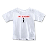 Switzerland 2014 FIFA World Cup Brazil(TM) Toddler Core T-Shirt (White)