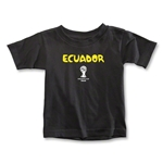 Ecuador 2014 FIFA World Cup Brazil(TM) Toddler Core T-Shirt (Black)