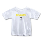 Ecuador 2014 FIFA World Cup Brazil(TM) Toddler Core T-Shirt (White)