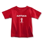 Australia 2014 FIFA World Cup Brazil(TM) Toddler Core T-Shirt (Red)