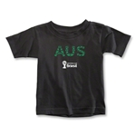 Australia 2014 FIFA World Cup Brazil(TM) Toddler Elements T-Shirt (Black)