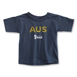 Australia 2014 FIFA World Cup Brazil(TM) Toddler Elements T-Shirt (Navy)