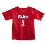 Iran 2014 FIFA World Cup Brazil(TM) Toddler Core T-Shirt (Red)