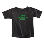 2014 FIFA World Cup Brazil(TM) Toddler Logotype T-Shirt (Black)