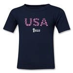 USA 2014 FIFA World Cup Brazil(TM) Toddler Elements T-Shirt (Navy)