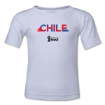 Chile 2014 FIFA World Cup Brazil(TM) Toddler Palm T-Shirt (White)