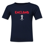 England 2014 FIFA World Cup Brazil(TM) Toddler Core T-Shirt (Navy)