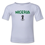 Nigeria 2014 FIFA World Cup Brazil(TM) Toddler Core T-Shirt (White)