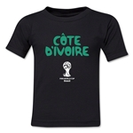 Cote d'Ivoire 2014 FIFA World Cup Brazil(TM) Toddler Core T-Shirt (Black)