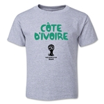 Cote d'Ivoire 2014 FIFA World Cup Brazil(TM) Toddler Core T-Shirt (Grey)