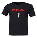 Portugal 2014 FIFA World Cup Brazil(TM) Toddler Core T-Shirt (Black)