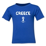 Greece 2014 FIFA World Cup Brazil(TM) Toddler Core T-Shirt (Royal)