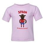 Spain 2014 FIFA World Cup Brazil(TM) Toddler Mascot T-Shirt (Pink)