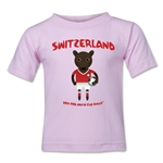 Switzerland 2014 FIFA World Cup Brazil(TM) Toddler Mascot T-Shirt (Pink)