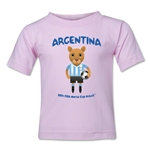 Argentina 2014 FIFA World Cup Brazil(TM) Toddler Mascot T-Shirt (Pink)