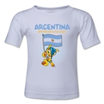 Argentina 2014 FIFA World Cup Brazil(TM) Toddler Mascot Flag T-Shirt (White)