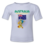 Australia 2014 FIFA World Cup Brazil(TM) Toddler Mascot Flag T-Shirt (White)