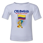 Colombia 2014 FIFA World Cup Brazil(TM) Toddler Mascot Flag T-Shirt (White)