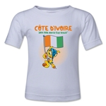 Cote d'Ivoire 2014 FIFA World Cup Brazil(TM) Toddler Mascot Flag T-Shirt (White)