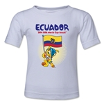 Ecuador 2014 FIFA World Cup Brazil(TM) Toddler Mascot Flag T-Shirt (White)