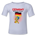 Germany 2014 FIFA World Cup Brazil(TM) Toddler Mascot Flag T-Shirt (White)