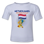 Netherlands 2014 FIFA World Cup Brazil(TM) Toddler Mascot Flag T-Shirt (White)