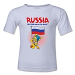 Russia 2014 FIFA World Cup Brazil(TM) Toddler Mascot Flag T-Shirt (White)