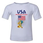 USA 2014 FIFA World Cup Brazil(TM) Toddler Mascot Flag T-Shirt (White)