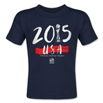 USA Women's World Cup Champions Toddler T-Shirt (Navy)