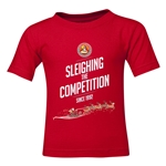FC Santa Claus Sleighing the Competition Toddler T-Shirt (Red)