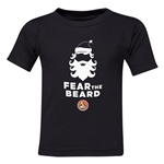 FC Santa Claus Fear the Beard Toddler T-Shirt (Black)