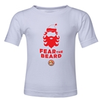 FC Santa Claus Fear the Beard Toddler T-Shirt (White)